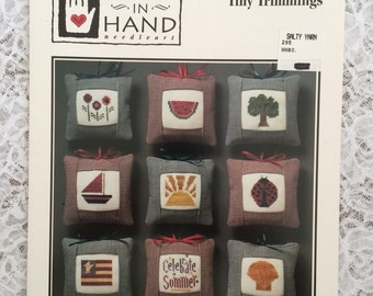 CCS - Summer Cross Stitch Patterns - Heart in Hand Summer Tiny Trimmings