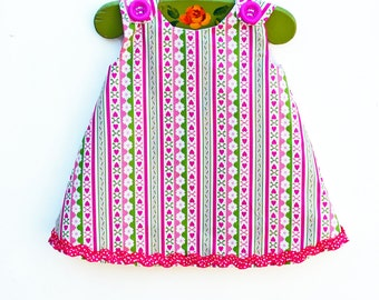 Baby Valentine Dress - Girls Dress - Red - Baby Clothing - Infant Holiday Dress - Photo Prop - Valentine - Toddler Aline - Handmade USA
