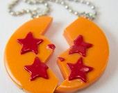 Anime inspired Dragon Ball Z Dragonball friendship necklace