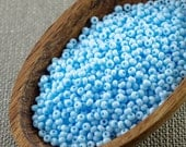 20g 11/0 seed beads Czech seed beads Czech rocailles 11/0 seed beads Opaque Baby Blue seed beads NR 326