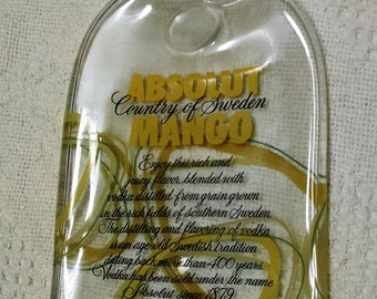 Melted Bottle Absolut Mango Serving Tray Recycled glass