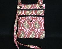 Hip bag- Fuchsia paisley print sari