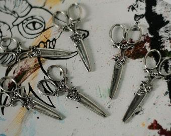 Scissors Charms (6 pcs)