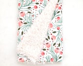 Baby Blanket Winter Floral. The Cloud Blanket. Faux Fur Baby Blanket. Minky Baby Blanket. Floral Baby Blanket. Coral Baby Blanket.