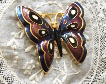 GORGEOUS BIG  enamel butterfly design brooch/pin colored  enamel#butterfly#papillon#insect#flyinginsect