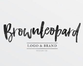 Premade Logo Design, calligraphy logo for Photographers, modern graphic design for small business, customizable logo, branding, blog logo