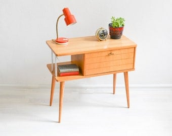 Vintage dresser, 60s console table, cabinet, telephone table, Mid Century modern wood