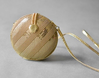 Vintage bag hand bag clutch satchel gold wedding bride purse chain NYE party christmas