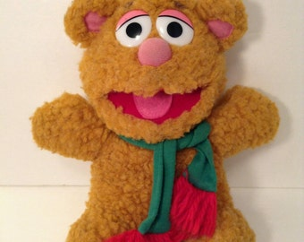 Vintage 1980s Muppet babies Foz fozzie bear Christmas Hensen 1987