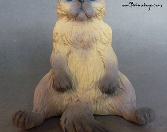 Persian cat sculpture – Lilac point