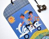 Bookmark - Vespa - Vintage Poster - Handmade