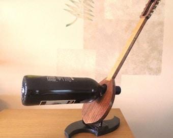 Greek Bouzouki Wine Rack, Handmade Woodwork Home Decor Gift Item