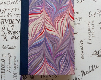 """Handmade blank book with hand-marbled covers: """"Lavender"""". Journal, Diary. Travel Notes. Writing. Sketching"""