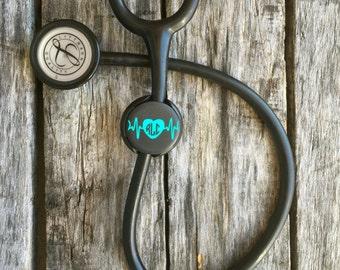 Stethoscope ID Tag, Stethoscope Name Tag, EKG, Stethoscope ID, Stethoscope Cover