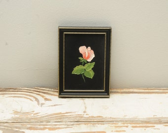 Vintage Pink Rose Mini Painting