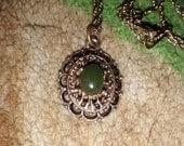 Avon ....Vintage Jade Charm Necklace