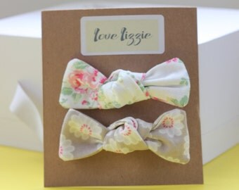 Fabric hair bows, clips, large, Cath Kidston, floral, cotton