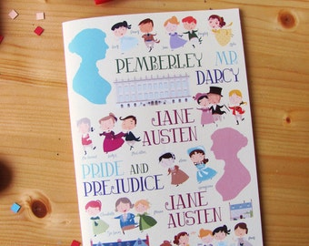 Pride and Prejudice journal. Jane Austen notebook.