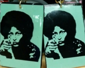 Large foxy brown (pamgrier) earrings