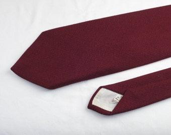 Vintage Men's Wide Tie, Maroon
