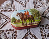 Vintage Royal Canadian Mounted Police Candy Tin, Canada, Mounties, German Shepherd Dogs, Vintage Tin Box, Police Force
