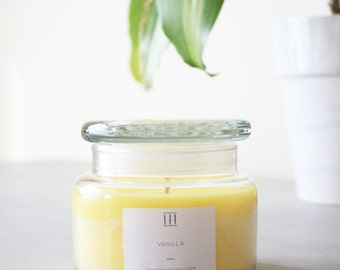 Three Silent Trees | Vanilla soy candle | small apothecary jar