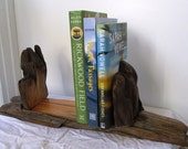 Large Reclaimed Driftwood Book Case, Rustic Home Decor Book Ends (Made to Order)