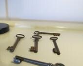 5 Antique Skeleton Keys    Old Keys   Vintage Collection Keys