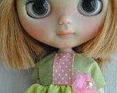 Custom Blythe by cocochoo + Special Dress hand made ooak  by Blythe in Wonderland
