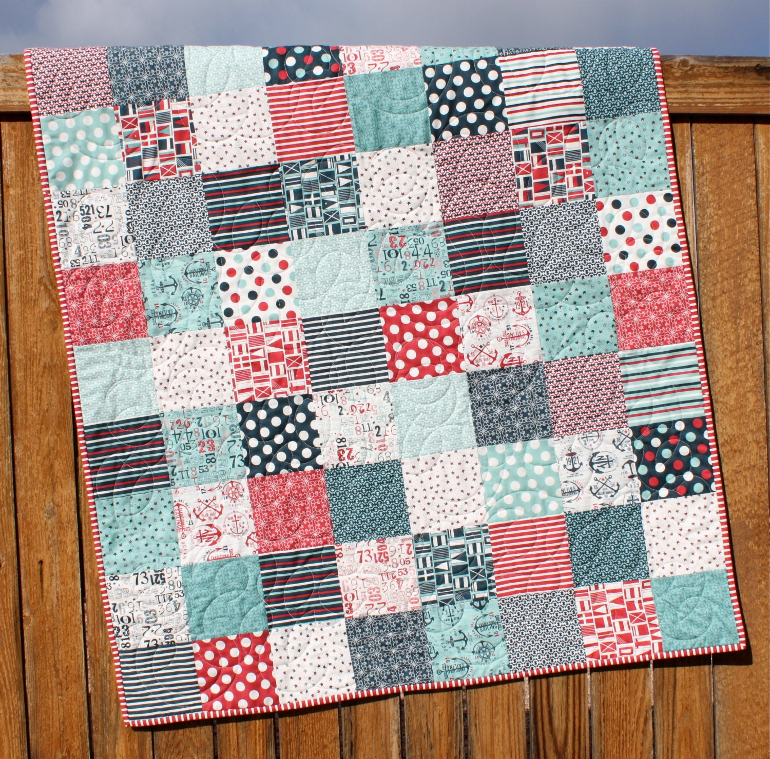 Nautical Baby Quilt Kit Baby Boy Quilt Kit The Boat House