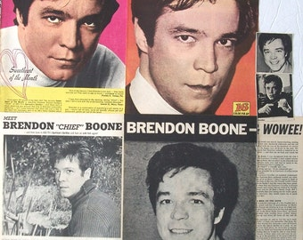 BRENDON BOONE ~ Garrison's Gorillas, Hanged Man, The Creeping Terror ~ Color and B&W Clippings, Articles, Pin-Ups from 1968-1969
