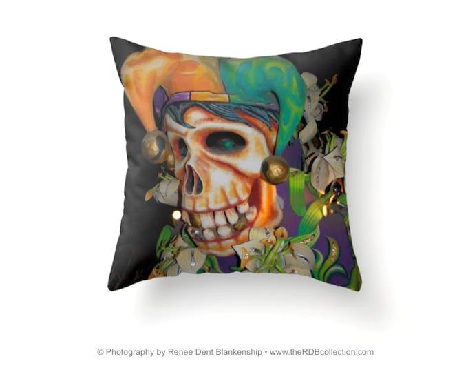 Skull Jester Pillow