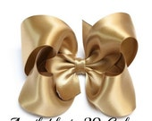 Gold Satin Bow, Girls Hair Bows, Gold Hair Bow, Satin Hair Bow, Toddler Hair Bows, Hair Bows for Girls, Hair Bows, Baby Hair Bows, 904, 400