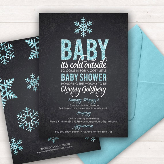 baby its cold outside baby shower invitation printable baby shower