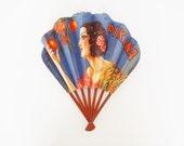 Vintage French Art Deco Advertising/Publicity/Publicitaire Folding Hand Fan Amer Picon / Pikina Liqueur