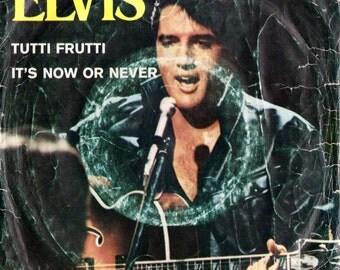 "ELVIS PRESLEY Tutti Frutti 1963 Portugal Very Rare 7"" 45 rpm Vinyl Single Record Music Rock n Roll Pop 70s Vegas King PB9426"