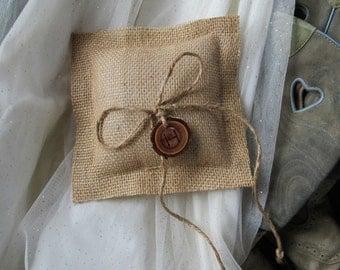 Personalized Ring Bearer Pillow - Burlap Wedding Pillow - Personalized Wedding Pillow - Ring Bearer Pillows - Rustic Wedding - Ring Bearer