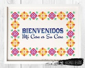 Bienvenidos Welcome Sign in Spanish Printable Digital Art Includes 3 Different Variations