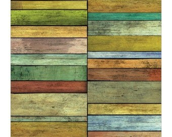 DECOUPAGE PAPER - Weathered Wood Decoupage Paper - Beach Hut Decoupage Paper - Collage Paper - Mixed Media Paper - Wood Decoupage Paper