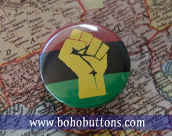Pan African Flag Pinback Button, Magnet, Badge, Africa Flag Button, Black Lives Matter Pin Traveler BLM Raised Fist Keychain Black Pride