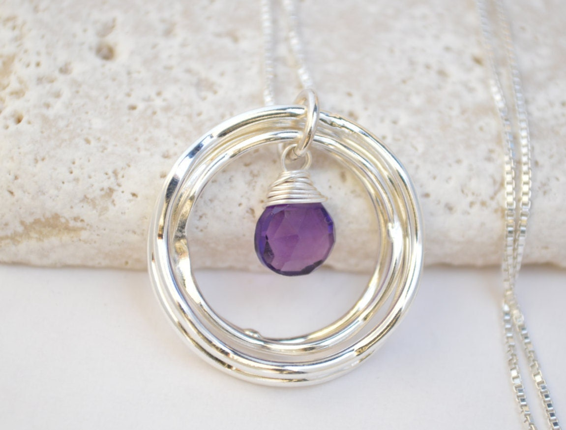 40th Wedding Anniversary Gifts For Friends: 40th Birthday Gift For Her, Amethyst Necklace, February