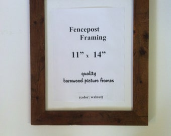 """Rustic picture frame(1-3/4"""" wide) - old barnwood! (finished in one of 4 diff.colors)"""