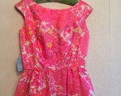 Fab Pink Vintage NOS 1960s Dress ~ Bow Details by McMullen