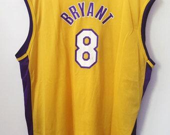 vintage kobe bryant champion jersey lakers mens size 52