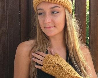 Fingerless Gloves / Fingerless Mittens / Crochet Gloves