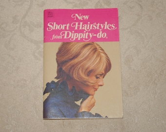 Vintage 1972 Dell Purse Book New Short Hairstyles From Dippity Do Dell Publishing Co Paperback Pamphlet
