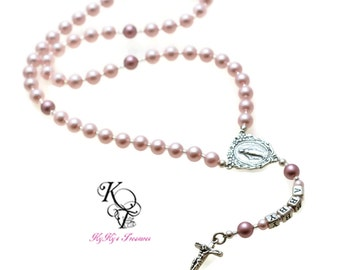 Baby Rosary Baby Baptism Gifts Personalized Rosary Kids Rosary Sterling Silver Rosary First Communion Rosary Baptism Rosary Confirmation