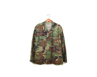 Camo Jacket Camo Shirt Army Jacket Army Shirt Camouflage Jacket Shirt Military Jacket Camo Shirt Grunge Camo Army Jacket