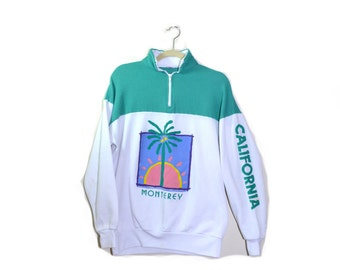Vintage Monterey California Sweatshirt California Shirt Monterey Souveneer Shirt 80s California Shirt Size XL