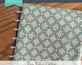Discbound Planner Cover (Teal and Gold Quatrefoil)
